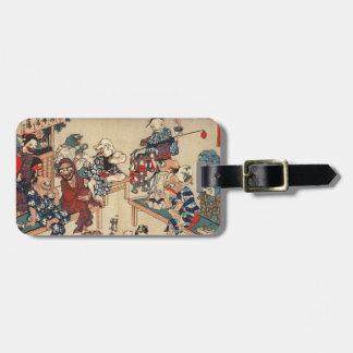 Japanese Ukiyoe Art (Kuniyoshi Utagawa) Bag Tag
