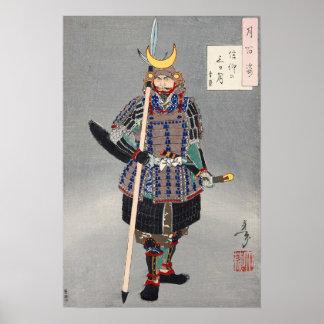 Japanese Ukiyoe Art (Tsukioka Yoshitoshi) Poster