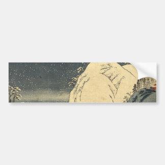 Japanese Ukiyoe Art (utagawa Hiroshige) Bumper Sticker
