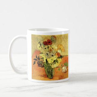 Japanese Vase with Roses and Anemones by Van Gogh Coffee Mug