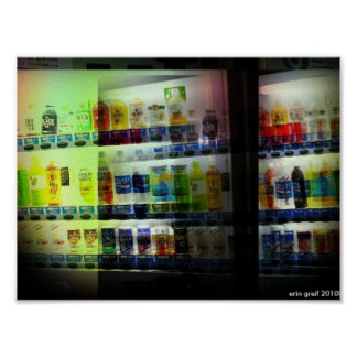 Japanese vending machine poster