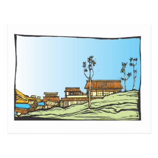 Japanese Village Postcard