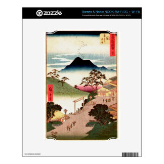 Japanese Village with Mountain Decal For NOOK