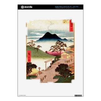 Japanese Village with Mountain iPad 3 Skin