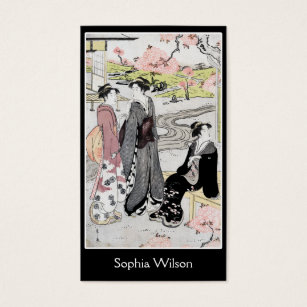 Vintage japanese art business cards templates zazzle japanese vintage art 1 business card reheart Gallery