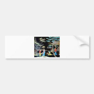 JAPANESE VINTAGE ART CAR BUMPER STICKER
