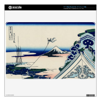 Japanese Vintage Art Fuji from Honganji Temple Skins For The MacBook