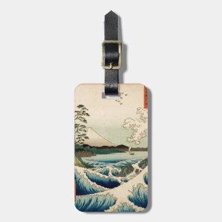 Japanese Vintage Art Sea of Satta Hiroshige Bag Tag