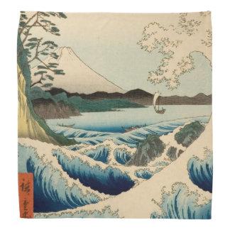 Japanese Vintage Art Sea of Satta Hiroshige Bandana