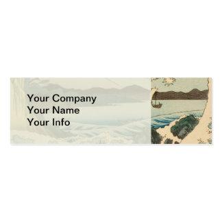 Japanese Vintage Art Sea of Satta Hiroshige Business Card Templates