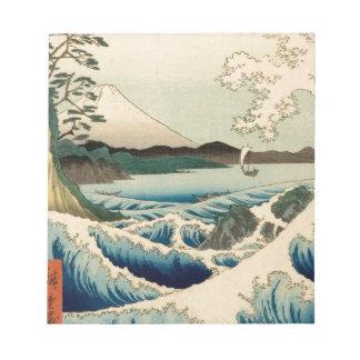 Japanese Vintage Art Sea of Satta Hiroshige Note Pad