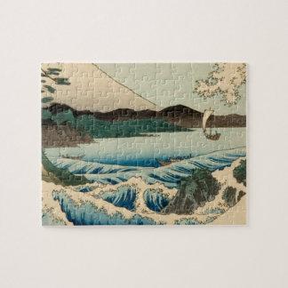 Japanese Vintage Art Sea of Satta Hiroshige Puzzles