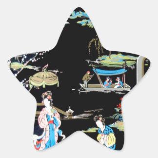 JAPANESE VINTAGE ART STAR STICKER
