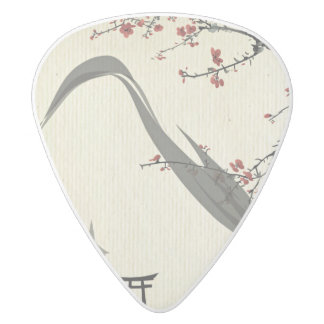 Japanese,vintage,cherry blossom,water colour,art,r white delrin guitar pick