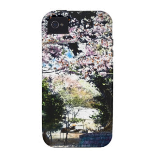 Japanese Vintage Cherry Blossoms Vibe iPhone 4 Cases