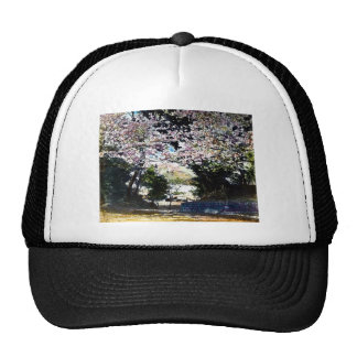 Japanese Vintage Cherry Blossoms Trucker Hat