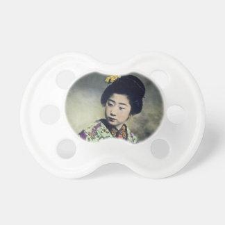 Japanese Vintage Geisha Beauty Magic Lantern Slide Pacifier