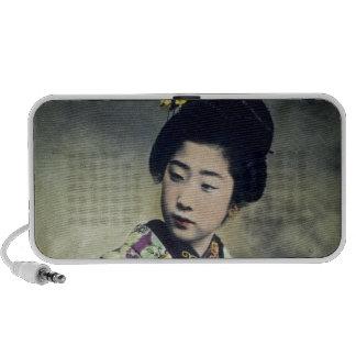 Japanese Vintage Geisha Beauty Magic Lantern Slide Travel Speakers