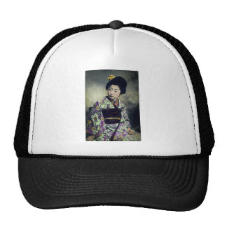 Japanese Vintage Geisha Beauty Magic Lantern Slide Trucker Hat