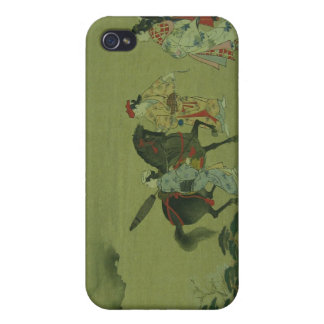 Japanese Vintage Horse & Girls Art Speck Case Cover For iPhone 4