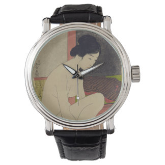 Japanese Vintage Image of Woman After Bath Wrist Watches