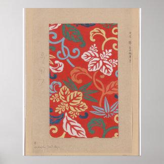 Japanese Vintage Kimono Drawing pre-1900s Image Poster