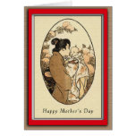 Japanese Vintage Mother's Day Greeting Cards