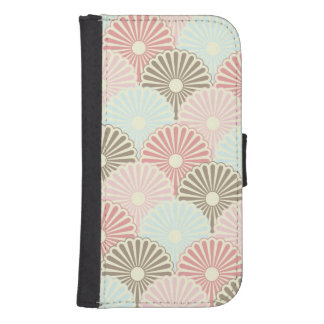 Japanese vintage pattern wallet phone case for samsung galaxy s4
