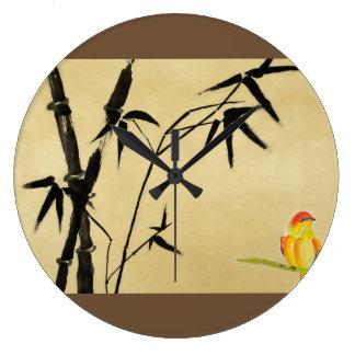 Japanese Vintage Print Wall Clock