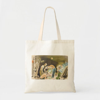 Japanese Vocations in Picturer, Welder watercolor Tote Bags
