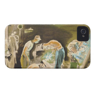 Japanese Vocations in Picturer, Welder watercolor iPhone 4 Covers