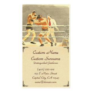 Japanese Vocations in Pictures, Boxers Business Card