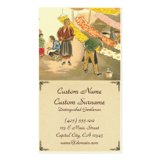Japanese Vocations in Pictures, Dying Shop Business Card