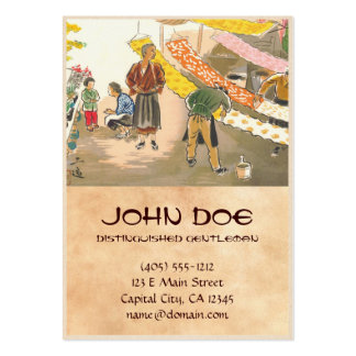 Japanese Vocations in Pictures, Dying Shop Large Business Card