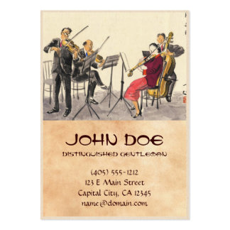 Japanese Vocations In Pictures, Players Of Music Large Business Card