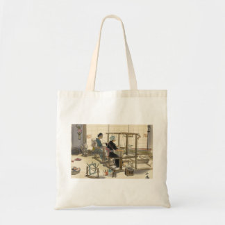 Japanese Vocations In Pictures, Women Weavers Canvas Bags