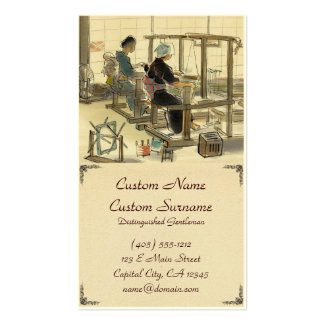 Japanese Vocations In Pictures, Women Weavers Business Card