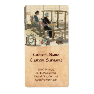 Japanese Vocations In Pictures, Women Weavers Label