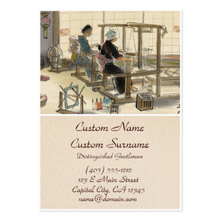 Japanese Vocations In Pictures, Women Weavers Large Business Card