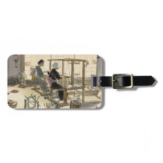Japanese Vocations In Pictures, Women Weavers Tag For Bags