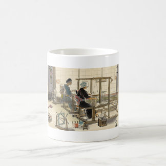 Japanese Vocations In Pictures, Women Weavers Classic White Coffee Mug