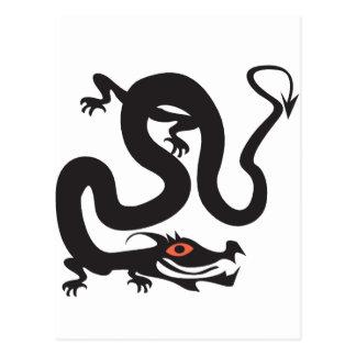 Japanese Walking Snake Postcard