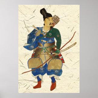 Japanese Warrior Archer Poster