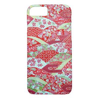 Japanese Washi Art Red Floral Origami Yuzen iPhone 8/7 Case