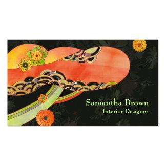 Japanese Washi Interior Designer Business Cards Pack Of Standard Business Cards