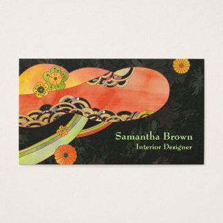 Japanese Washi Interior Designer Business Cards