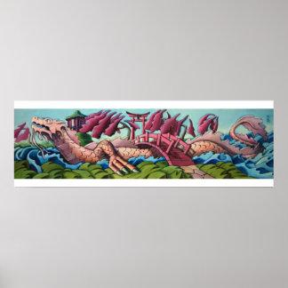 Japanese Water Dragon Poster