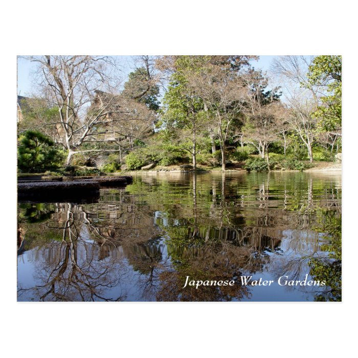 Japanese Water Gardens Fort Worth Texas Postcard Zazzle