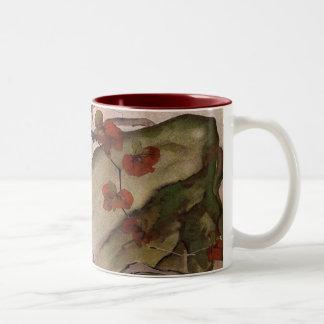 Japanese Watercolor by Mivata Two-Tone Coffee Mug