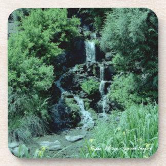 Japanese Waterfall Cork Coaster